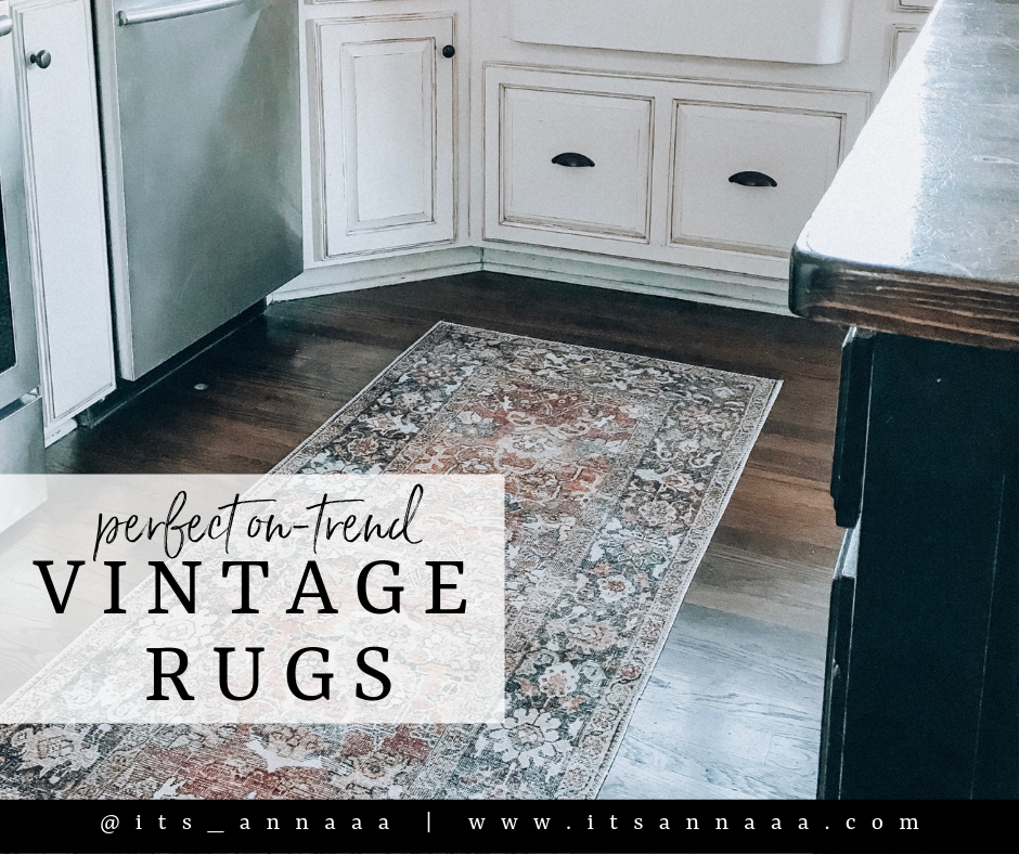 Perfect On Trend Vintage Rugs